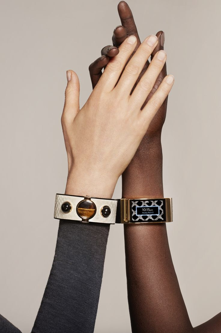 A luxury smart bracelet with high-tech jewels by Opening Ceremony.