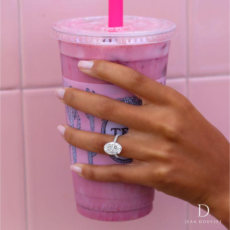 CHELSEA platinum engagement ring set with a 5.0+ carat oval cut diamond, handcra ...