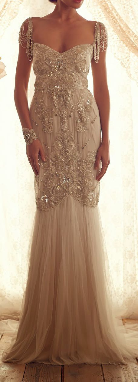 And the winner is @Alana D. I love the beading and the antique look to this dress. It will fit the story well. Thank you all for helping me! The chose was so hard. I had too many favorites