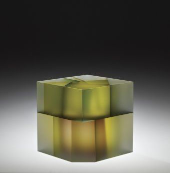 Cell Cube with Purple Manipulation by Jiyong Lee, 2012 | Corning Museum of Glass