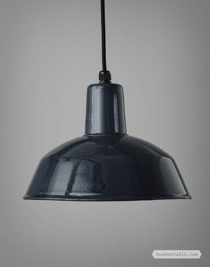 BLACK PRODUCTION LINE VINTAGE INDUSTRIAL LIGHTS // BUSHO STUDIO
