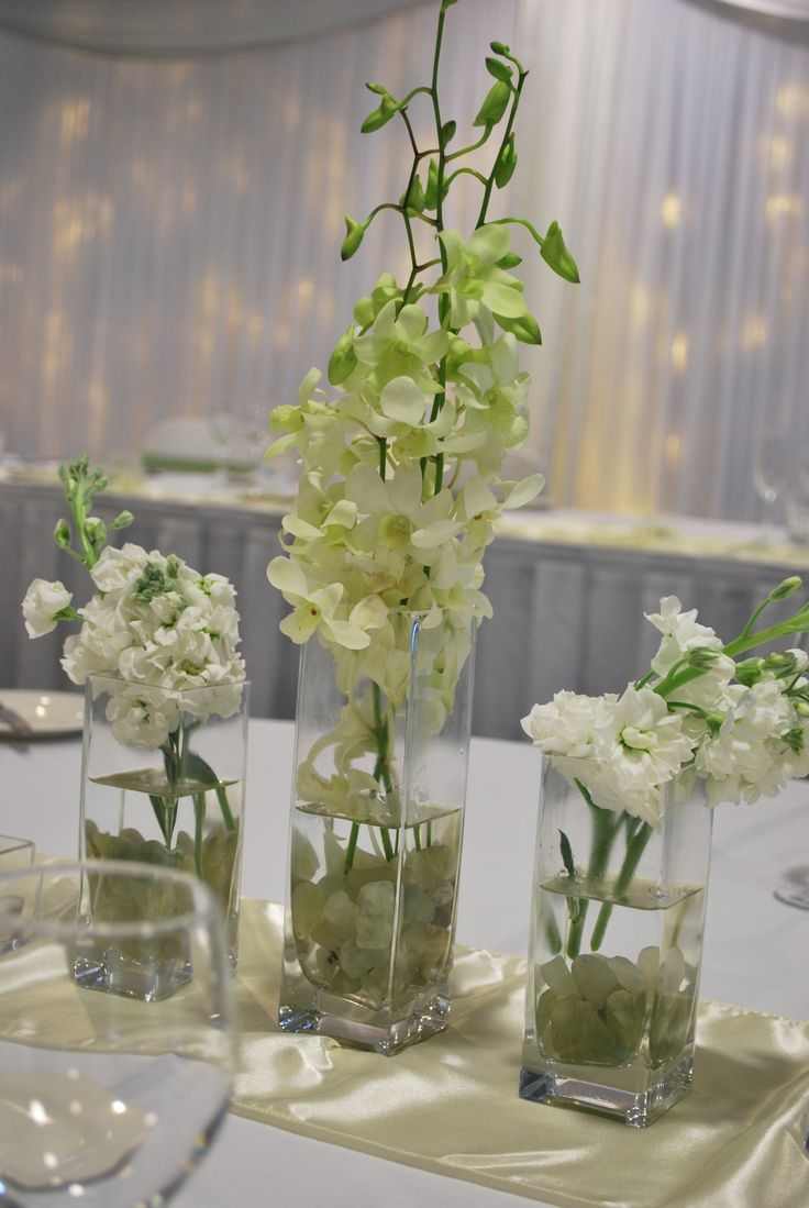 Mercure Townsville - Wedding Reception - Lakes Room - Table Centrepiece - Elegant - Simple