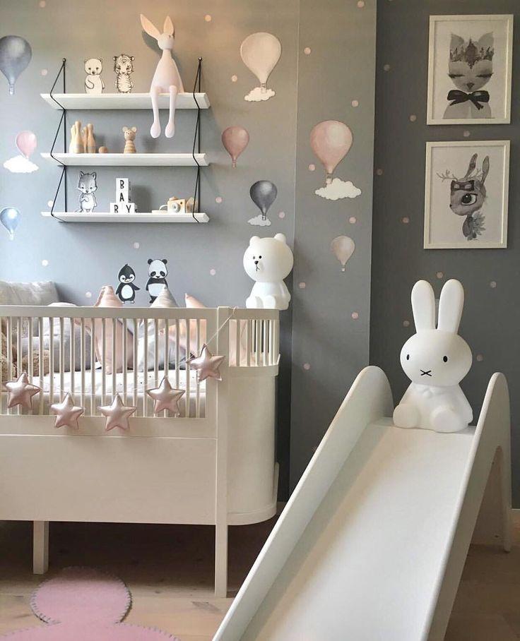 Schone Wandgestaltung Im Madchenzimmer Babyzimmer Wandgestaltung Madchenzimmer Kinderzimmereinrichtung