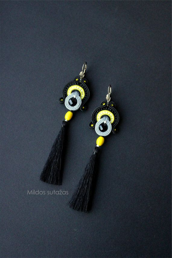 Handmade jewelry set earrings and bracelet by Mildossutazas