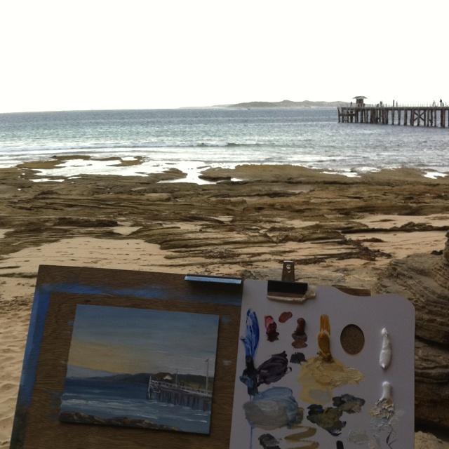 Painting en Plein Air at Point Lonsdale