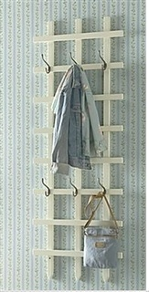 Trellis - with hooks - you have an instead hanger for clothes, purses, belts, etc. etc. etc.