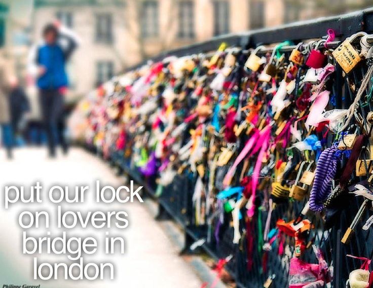 The Lover's Bridge in Paris. Couples attach a padlock to the bridge and throw the key into the river symbolizing their eternal love. #ToDo #Bucketlist