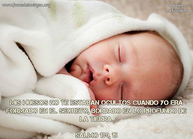 """""""Mis huesos no te estaban ocultos cuando yo era formado en el secreto, bordado en lo profundo de la tierra""""... Salmo 139, 15    SALVEMOS LA VIDA QUE ESTÁ POR NACER!!    🔔Todavía puedes unirte a nuestra campaña de oración🙏  Oraremos durante 9 meses, iniciando hoy!    👶CAMPAÑA DE ADOPCIÓN ESPIRITUAL para salvar la vida de un bebé no nacido en peligro de ser abortado  http://forosdelavirgen.org/114800/adopta-un-bebe-por-nacer/"""