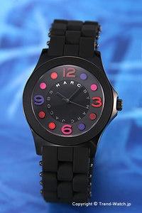 【MARC BY MARC JACOBS】 マークバイマークジェイコブス 腕時計 Pelly (ペリー) オールブラック×カラーマーカー レディス MBM2543