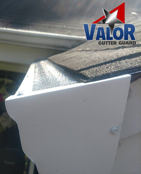 Sometimes There Is A Worry About How Valor Gutter Guards Fit On The Ends Of Gutters Check Out How This Photo Shows How Valor Is Cl Gutter Guard Gutter Gutters