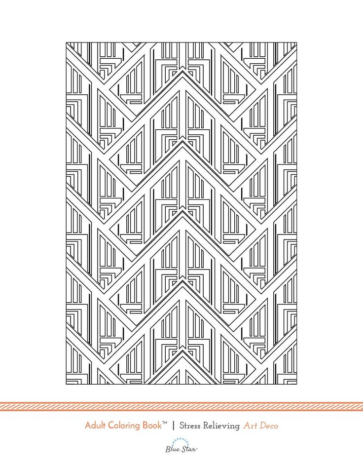 Try This Free Adult Coloring Book Page From Our Stress Relieving Art Deco On Amazon Simply Print Color And Relax If You Enjoy It