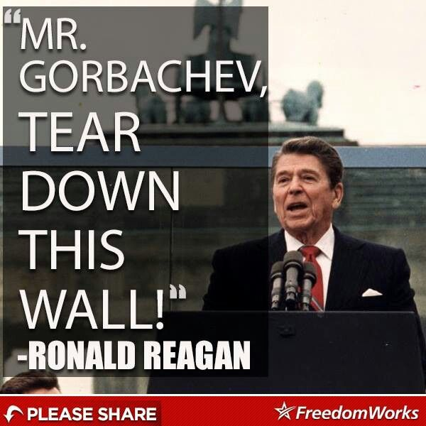 Ronald Reagan in the famous speech admonishing Mr ...