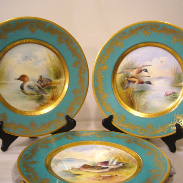 Minton Bird Plates signed by artist Holland & 49 best Plate images on Pinterest | China painting Chinese painting ...