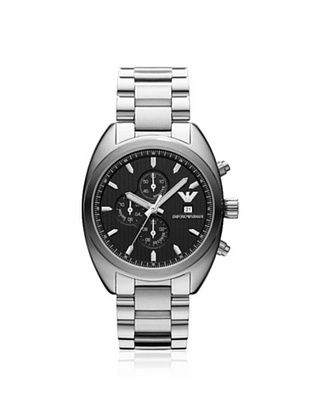 Emporio Armani Men's AR5957 Silver/Black Stainless Steel Watch