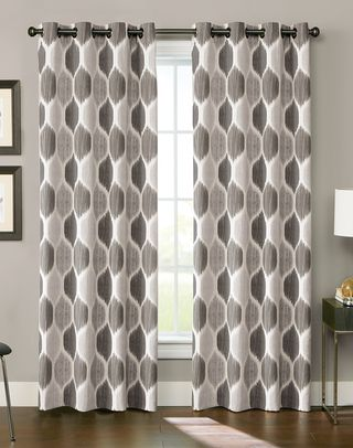Tangier Ikat Grommet Curtain Panel