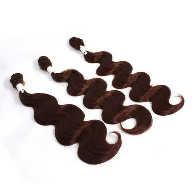 Body Wave Weft Hair bundles Weaving 18″ 20″ 22″ Synthetic Hair Extensions