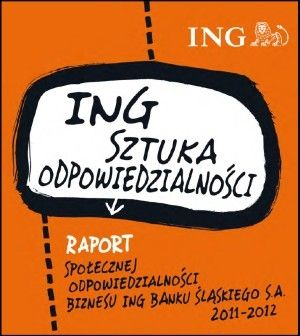 """CSR raport made for ING Bank. Our great success (""""the best debut"""" title in CSR reports from 2013 competition)! Dedicated graphic, typography and most of all - professional content."""