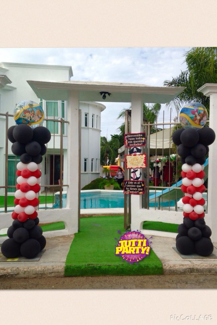 Decoraci n jake y los piratas de nunca jam s pictures to pin on - Pirates Party Ideas Jake And The Neverland Pirates Balloons Decorations