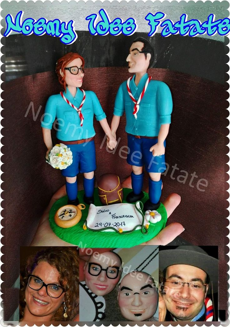Cake topper Scout polymer clay creations handmade Noemy idee fatate
