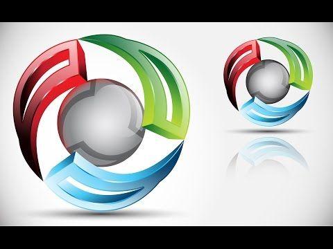 How to create 3D Logo Design in Adobe Illustrator CS5 | HD | PRO - YouTube