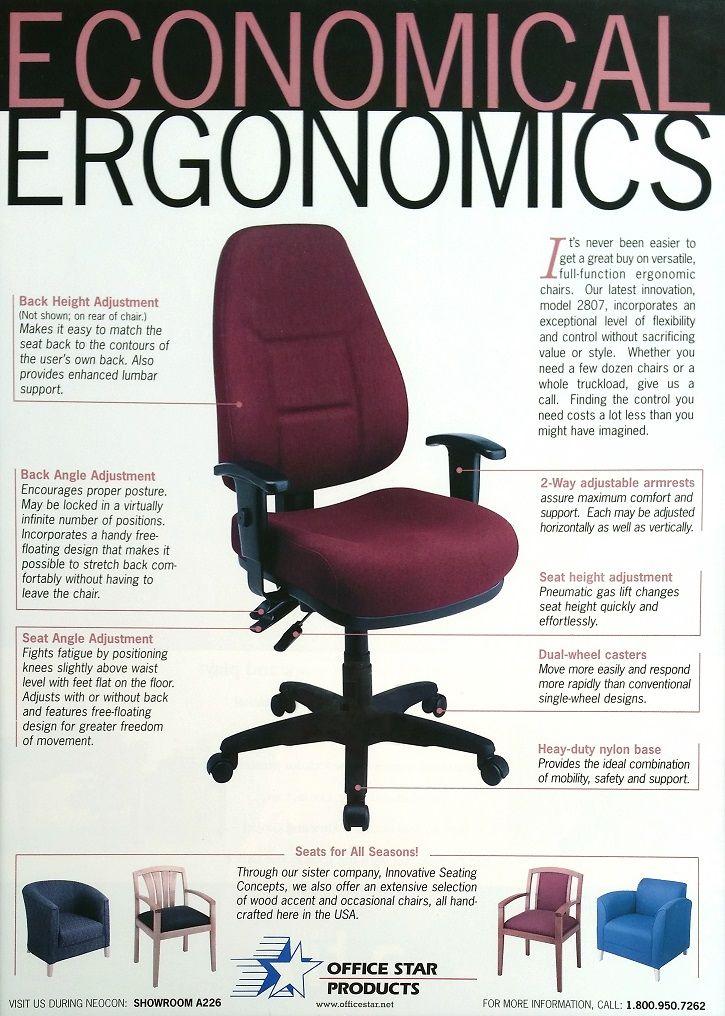 Beautiful Vintage OSP Advertisign: Economical Ergonomics