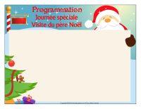 Programmation-Journée spéciale-Visite du père Noël