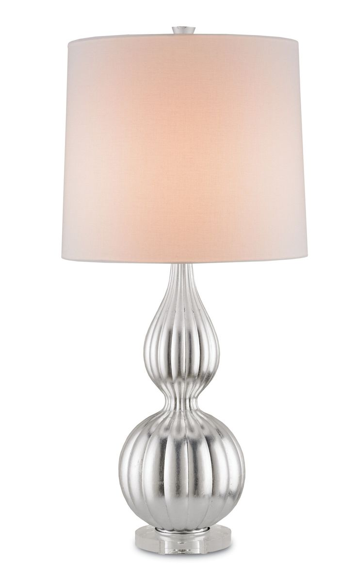 Yasmine Table Lamp In Silver Leaf Design By Currey