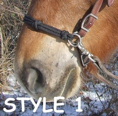 Horse Side Pull Rope Hackamore Bridle Attachment for Bitless Riding. $12.50, via Etsy.
