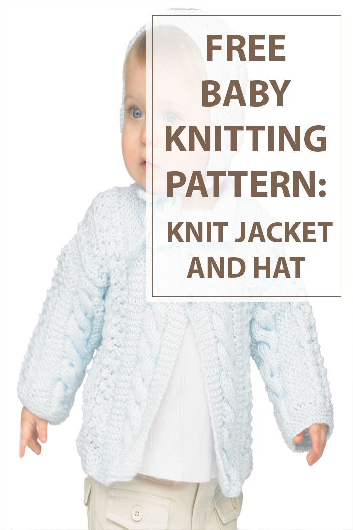 Knit this stylish baby knitting patterns hat and jacket for your lovely baby and keep it warm. The suggested skein is soft and warm. Give it a try. #knitting #patterns #craft | www.housewiveshobbies.com |