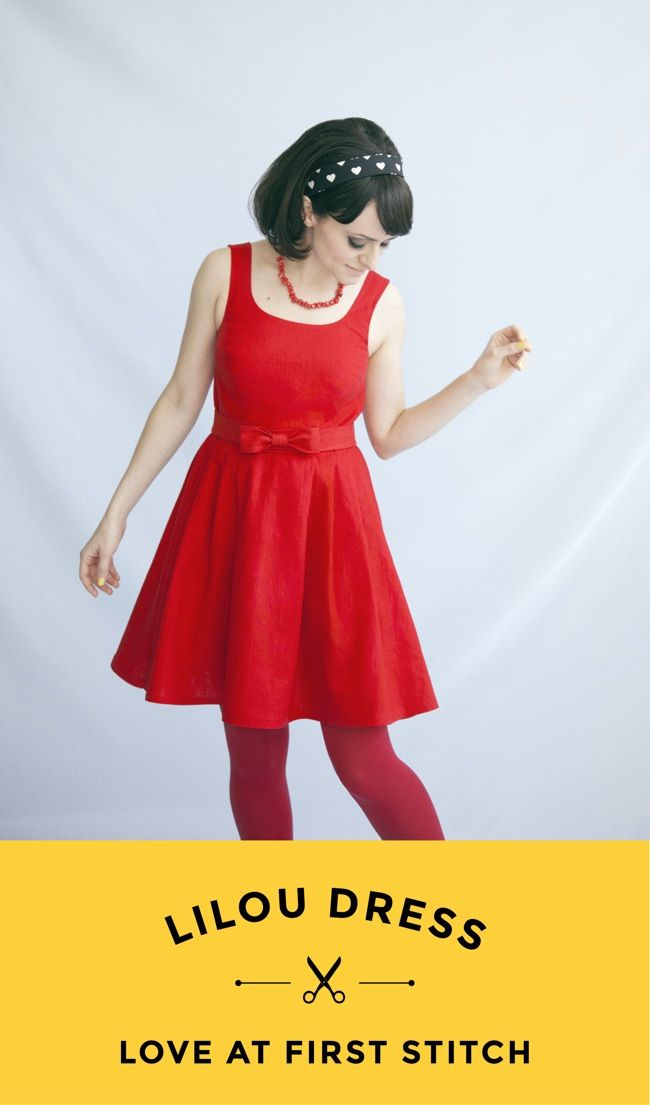 LILOU DRESS sewing pattern from Love at First Stitch