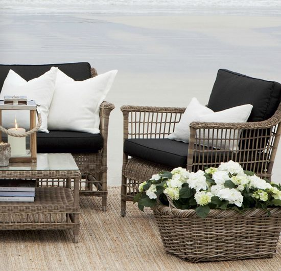 best 25+ black outdoor furniture ideas on pinterest | black rattan ... - Designer Patio Furniture