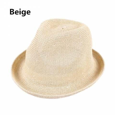 Mens straw hat simple British style sun hats