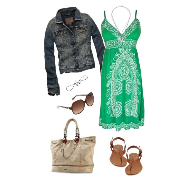 Green Summer Dress...would be great for our trip to Hawaii!