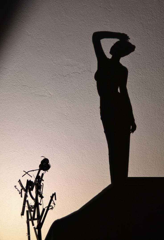 title ''girl with black velour dress''... #shadow #shadowart #light #lightandshadow #shadowartist #greece #greekartist #greekart #shadowtechnique