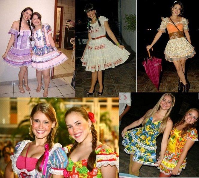 vestidos festa junina 2014 af23d994384