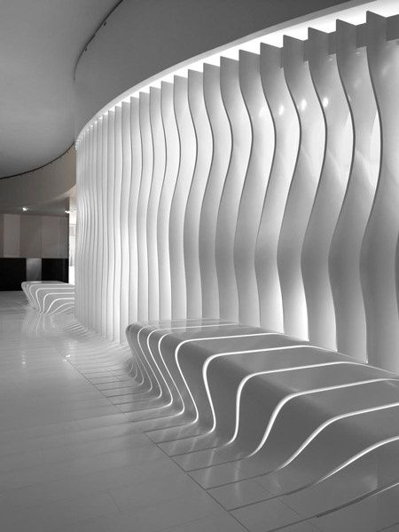 Futuristic Interior, Corian surfaces, Modern Interior, Futuristic Design, Futuristic Furniture, White Interior, Futuristic Architecture by FuturisticNews.com