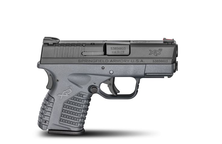 "XD-S 3.3"" single stack 9mm polymer pistol."
