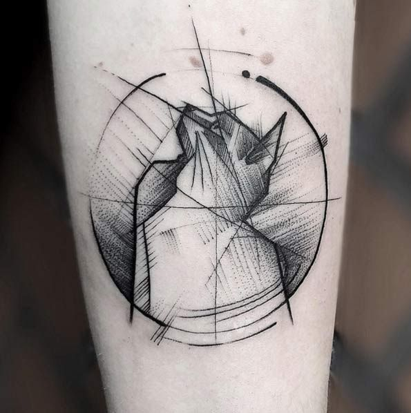 Sketch Style Cat Tattoo by Frank Carillho