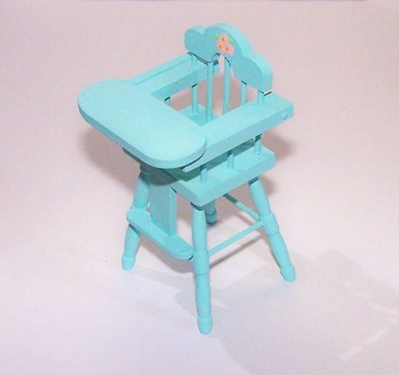 Highchair Infant Seat Vintage Baby Nursery Teal