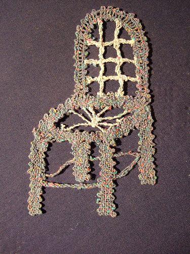 bobbin lace blue chair | by guzzisue