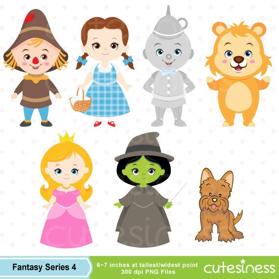 Wizard of Oz Digital Clipart Wizard of Oz Clipart by Cutesiness