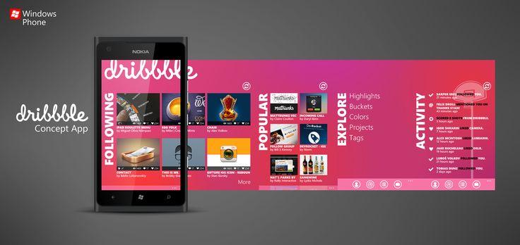 Dribbble WP7 Concept App
