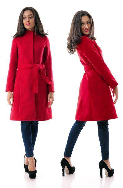 Пальто кашемир Dana красное