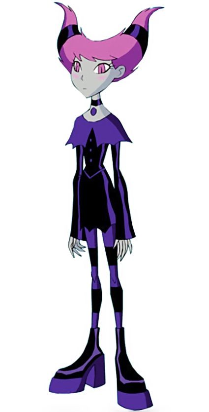 Jinx - Teen Titans Animated Series - HIVE. Our previous version was just awful, and I simply processed a small version of it to cleanly embiggen it. Nothing much, but that's one very low-res image gone.