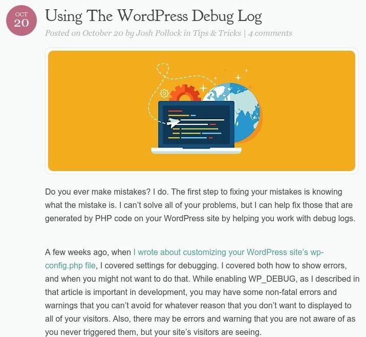 Using The #WordPress Debug Log