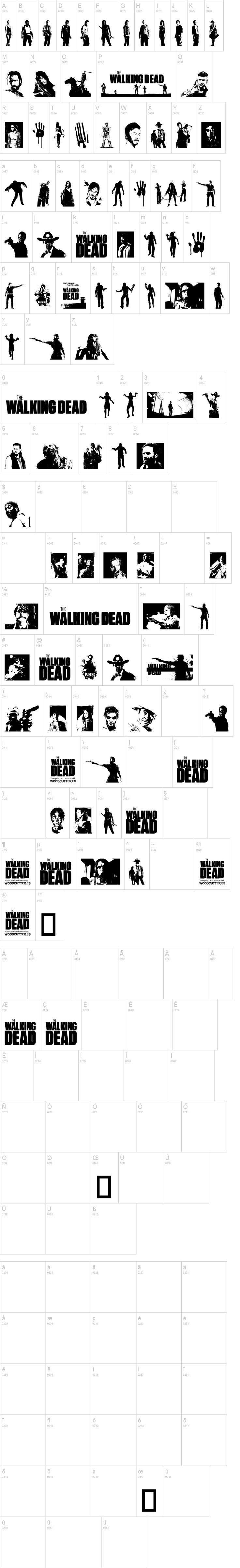 The Walking Dead - The Font. #thewalkingdead #dafont