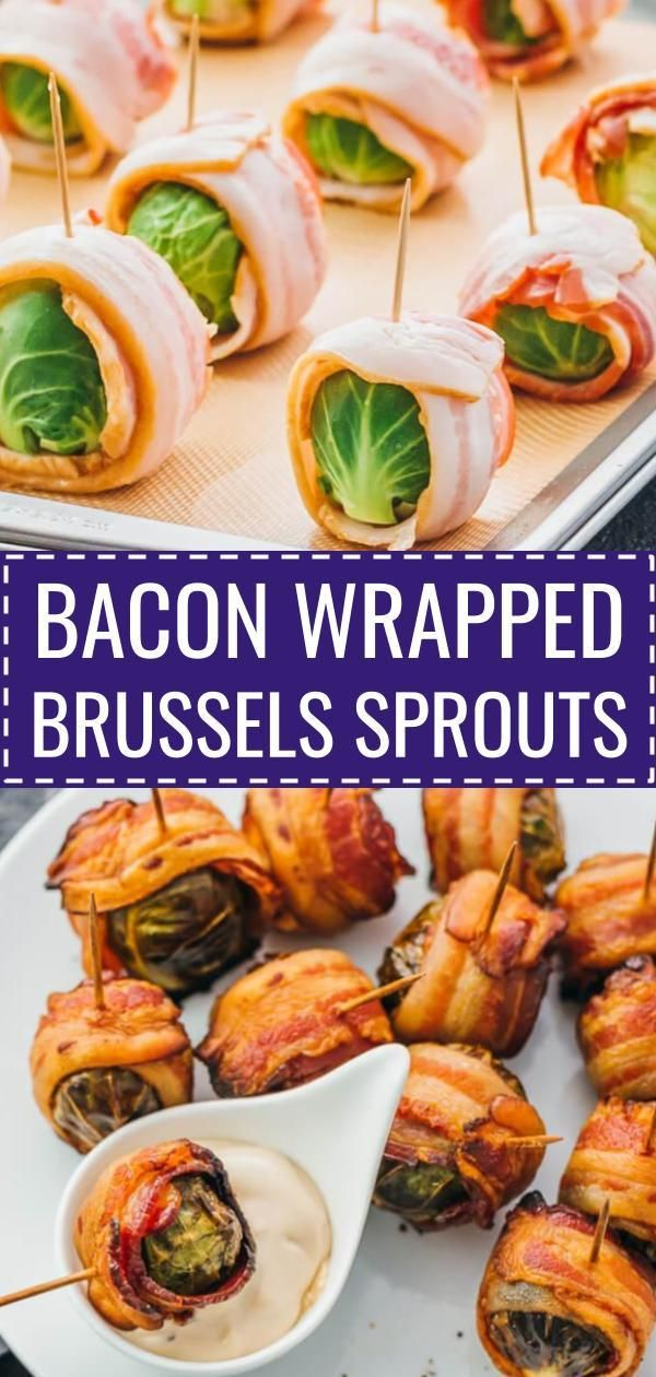 Bacon wrapped brussels sprouts with balsamic mayo dip. My favorite fall appetizers — roasted brussels sprouts wrapped with crispy bacon slices and dipped in a balsamic vinegar and mayonnaise sauce. thanksgiving recipes / dairy free / food / roasted / oven / skewers / baked / crispy / skillet / creamy / easy / paleo / recipes / whole 30 / kabobs / gluten free / thanksgiving sides / foods / balsamic vinegar / dinners / keto / low carb / healthy / induction / meals / recipes #keto #thanksgiving