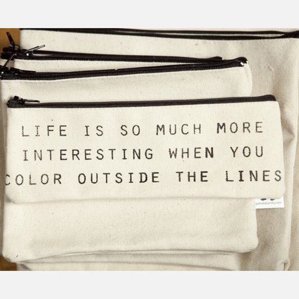 Color Outside Lines Small Pouch