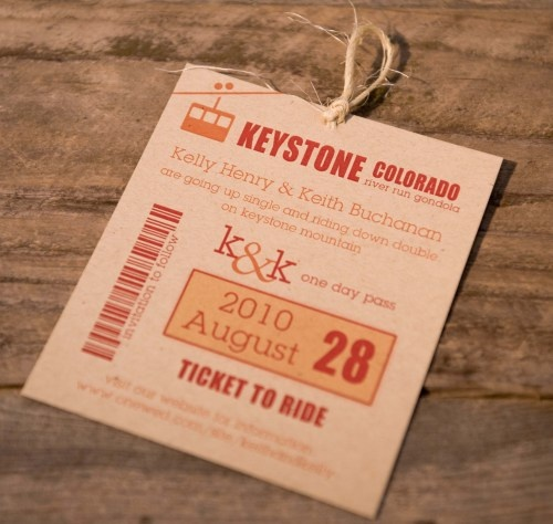 Ticket to Ride  #destination #wedding #savethedate