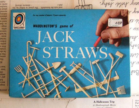 VINTAGE Waddingtons Game of JACK STRAWS by Parker by jennyelkins, $5.00
